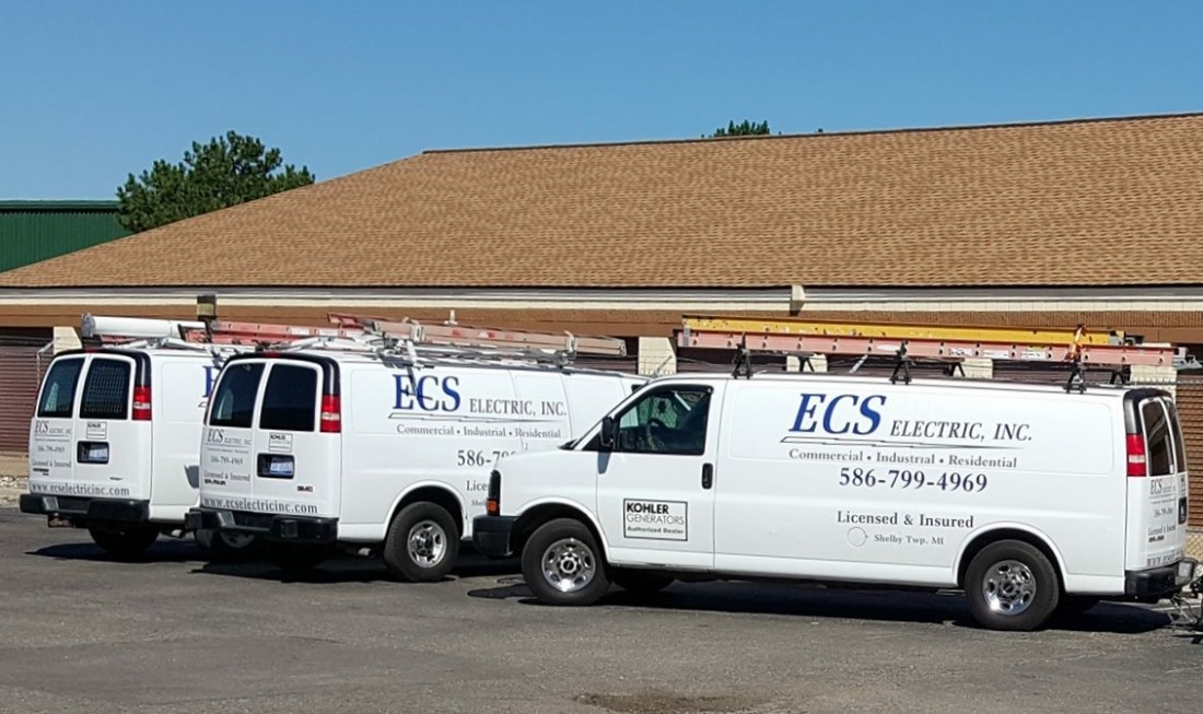 Electrical Contractor Shelby Township MI - Generator Repair Electrician | ECS Electric - Our_Trucks_3